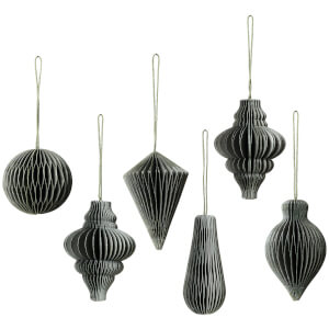 Broste Copenhagen Christmas Mix Baubles - Set of 6 - Thyme