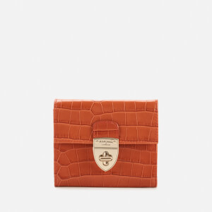 Aspinal of London Women's Small Mayfair Purse with Chain Small Croc - Marmalade