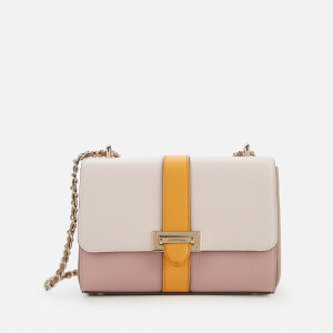 Aspinal of London Women's Lottie Small Bag - Shell Pink/Bloomsbury/Soft Taupe/Mandarin