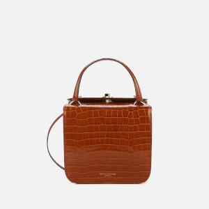 Aspinal of London Women's Gigi Deep Shine Small Croc Bag - Vintage Tan