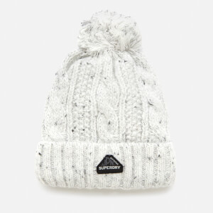 Superdry Women's Gracie Cable Beanie - Winter White Tweed