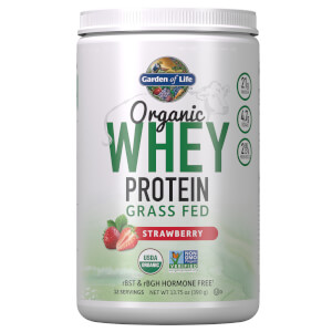 Garden of Life Organic Grass Fed Whey Protein - Strawberry - 393.5g