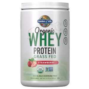 Proteine di siero di latte biologiche da mucche nutrite con erba - Fragola - 393,5 g