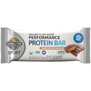 Garden of Life Sport Organic Plant - Based Protein Bar - Peanut Butter Chocolate - 12 Bars