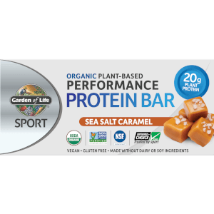 Garden of Life Sport Organic Plant - Based Protein Bar - Sea Salt Caramel - 12 Bars