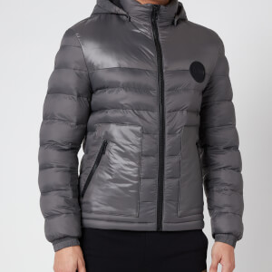 HUGO Men's Balin2041 Hooded Padded Jacket - Charcoal