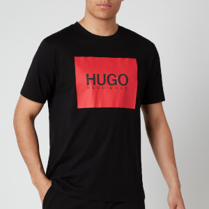 HUGO Men's Dolive U204 Logo T-Shirt - Black