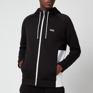 BOSS Men's Saggy 1 Zip Through Hoodie - Black