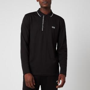 BOSS Men's Pleesy 4 Long Sleeve Polo Shirt - Black