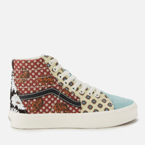 Vans Women's Tiger Patchwork Sk8 Hi-Top Trainers - Black/True White