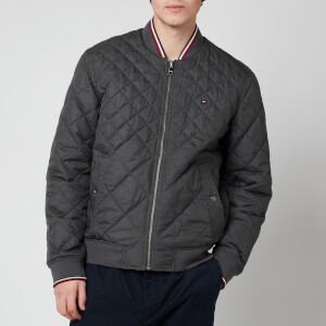 Tommy Hilfiger Men's Reversible Quilted Bomber Jacket - Dark Ash