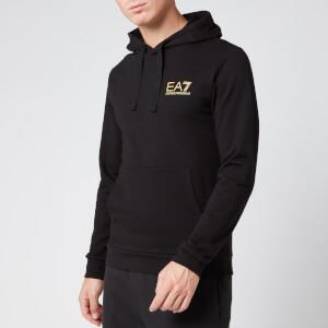 Emporio Armani EA7 Men's Overhead Sleeve Logo Hoodie - Black