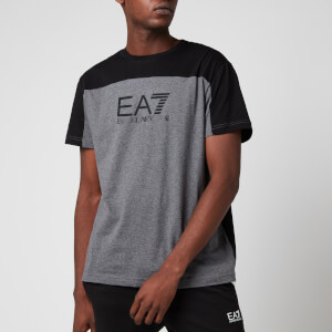 Emporio Armani EA7 Men's Panelled T-Shirt - Black