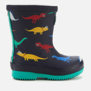 Joules Toddlers' Welly Print Wellies - Navy Dinos