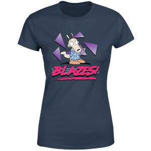 Rockos Modern Life Blazes! Women's T-Shirt - Navy