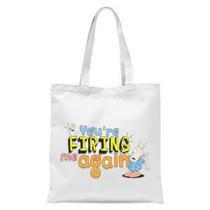 Rocko's Modern Firing Tote Bag - White