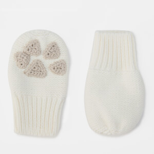 Joules Babies' Paws Mittens - Cream