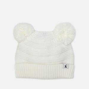 Joules Babies' Pom Pom Knitted Hat - Cream