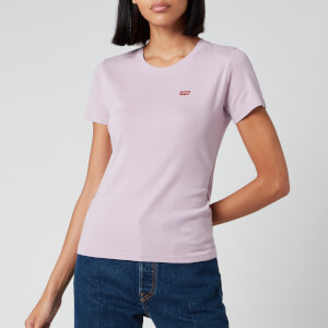 Levi's Women's Short Sleeve Rib Baby T-Shirt - Lavender Frost