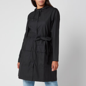 RAINS Women's Belt Jacket - Black