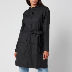 RAINS Women's Belt Jacket - Black