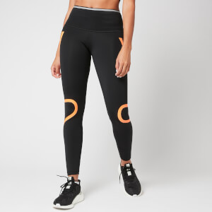 adidas by Stella McCartney Women's Sports Tights - Black/Signal Orange
