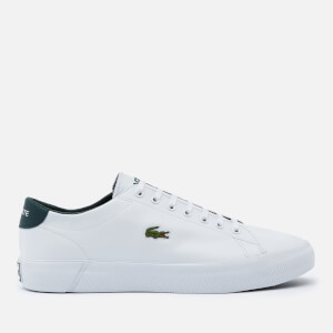 Lacoste Men's Gripshot 0120 3 Leather Chunky Trainers - White/Dark Green