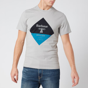 Barbour Beacon Men's Diamond T-Shirt - Grey