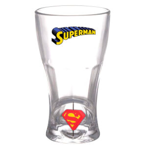 DC Comics DC Universe Soda Glass Superman 3D Rotating Logo