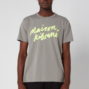 Maison Kitsuné Men's Handwriting T-Shirt - Dark Grey