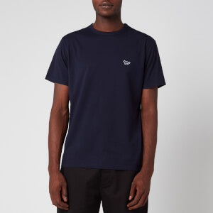 Maison Kitsuné Men's Navy Fox Patch Classic T-Shirt - Navy