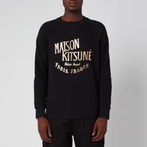 Maison Kitsuné Men's Palais Royal Sweatshirt - Black/Gold