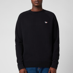 Maison Kitsuné Men's Tricolor Fox Patch Sweatshirt - Black