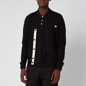 Maison Kitsuné Men's Classic Tricolor Fox Patch Cardigan - Black