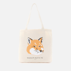 Maison Kitsuné Men's Fox Head Tote Bag - Ecru