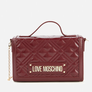 Love Moschino Women's Quilted Top Handle Bag - Burgundy