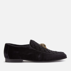 Kurt Geiger London Men's Hugh Eagle Head Velvet Loafers - Black