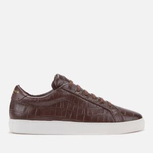 Kurt Geiger London Men's Donnie Croc Leather Low Top Trainers - Brown