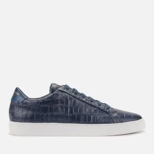 Kurt Geiger London Men's Donnie Croc Leather Low Top Trainers - Navy