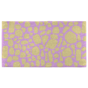 Giraffe Print Bright Fitness Towel