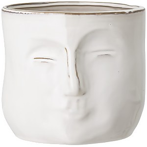 Bloomingville Face Flower Pot - White