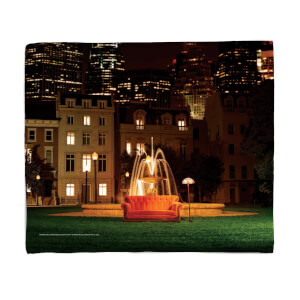 Friends Fountain Fleece Blanket