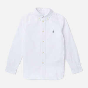 Polo Ralph Lauren Boys' Long Sleeve Shirt - White