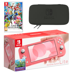 Nintendo Switch Lite (Coral) Super Smash Bros. Ultimate Pack