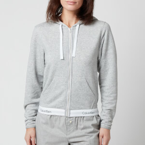 Calvin Klein Women's Modern Cotton Zip Hoodie - Grey Heather