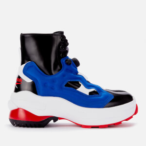 Maison Margiela X Reebok Men's Pump Tabi Boots - Black/Blue Matt/White