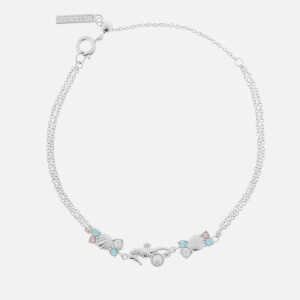 Olivia Burton Women's Under the Sea Seahorse Sparkle Chain Bracelet - Silver