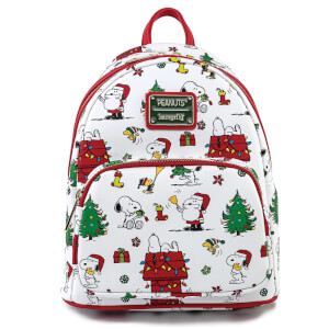 Loungefly Peanuts Snoopy Holiday Aop Mini Backpack