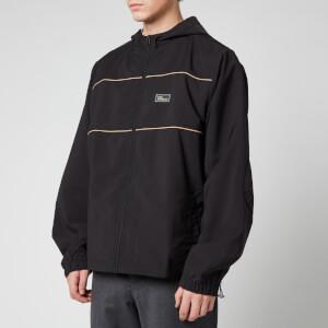 Drôle de Monsieur Men's Zipped Slogan Jacket - Black