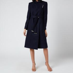 Ted Baker Women's Rose Wool Wrap Coat - Navy